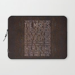Here's to the crazy ones (Rust) by Brian Vegas Laptop Sleeve