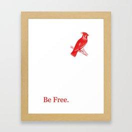 Lady Redbird Framed Art Print