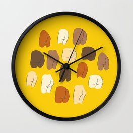 Beautiful Butts Wall Clock