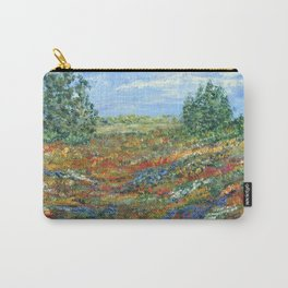 Summer In The Meadows, Impressionism floral landscape Carry-All Pouch