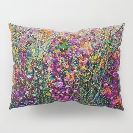 Hollyhock Fantasy Pollock Style Painting  Pillow Sham