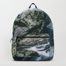 Wild river in Europe mountains Backpack