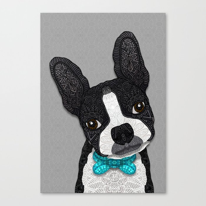 Bow Tie Boston Canvas Print