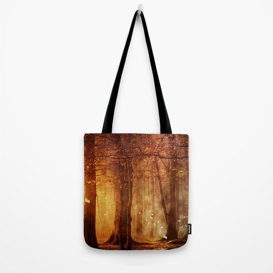 In the woods. Tote Bag