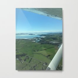 Flying over Farmland Metal Print