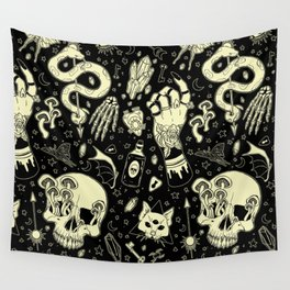 Witch Flash Ouija style Wall Tapestry