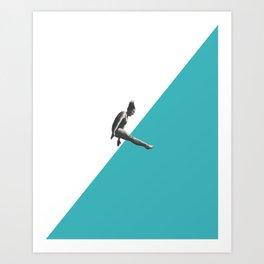Diver (turquoise) Art Print
