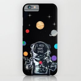 Astronaut Juggling the Solar System iPhone Case