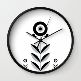 Retro Nordic Black & White Wall Clock