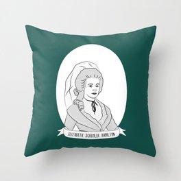 Elizabeth Schuyler Hamilton Illustrated Portrait Throw Pillow