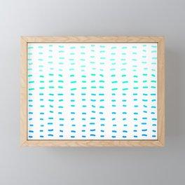 Fiesta at Festival - White & Turquoise Framed Mini Art Print