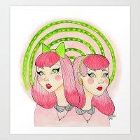 Katie and Sadie Art Print