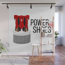 Power of shoes Wall Mural