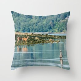 Everything is just Beachy Throw Pillow