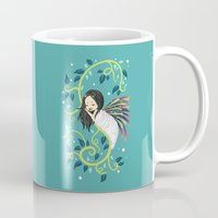 bjork Mugs featuring Cocoon by Freeminds