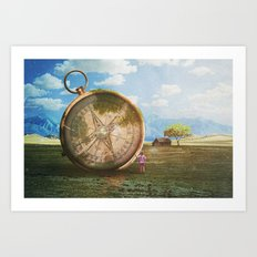 The Giant Compass Art Print