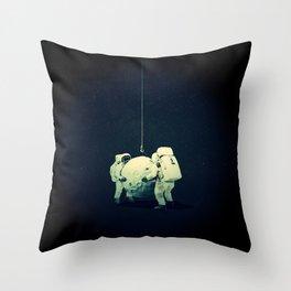 Moon hang Throw Pillow