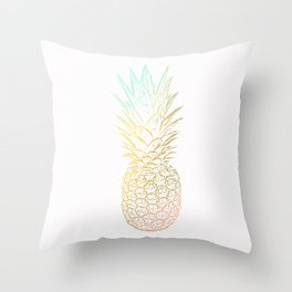 Ombre Gold Pineapple  Throw Pillow