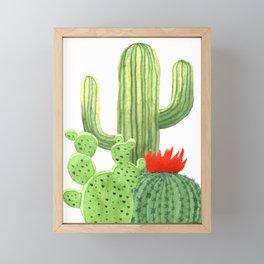 Perfect Cactus Bunch Framed Mini Art Print