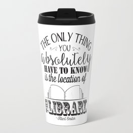 Location of the Library B&W Travel Mug