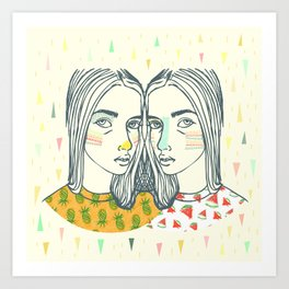 Last Sunset Twins Art Print