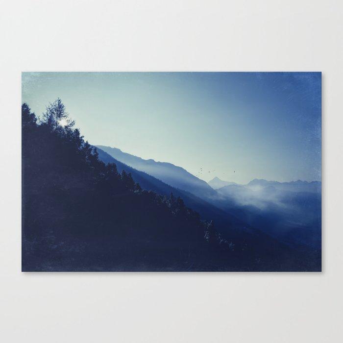 daybreak blues Canvas Print