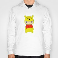 winnie the pooh Hoodies featuring A Boy - Winnie-the-Pooh by Christophe Chiozzi