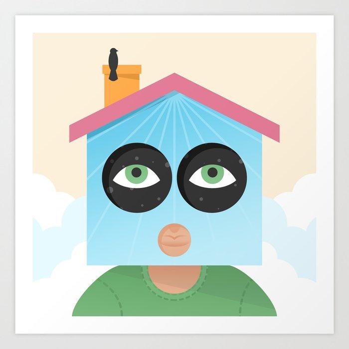 House of Birds Art Print