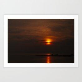 Red Sky, Koh Phangan Art Print