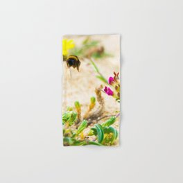 the flight of bumble bee on the bunes Hand & Bath Towel