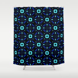 Bold Bloom | No. 1 | Floral Repeat Pattern Shower Curtain