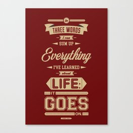 Lab No. 4 It Goes On Robert Frost Motivational Quote Canvas Print
