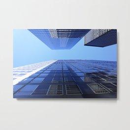 Blue Buildings - Tall Skyscrapers Metal Print