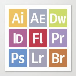 Adobe Icons Canvas Print