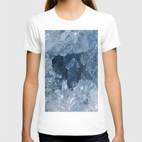 minerals T-shirts featuring Blue Gemstone by Kristiana Art Prints
