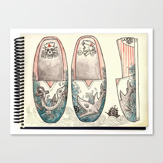 Sailor's Shoes Canvas Print