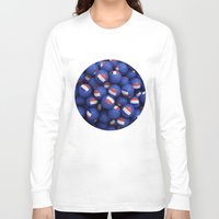 france Long Sleeve T-shirts featuring FRANCE FOOTBALLS by AMULET
