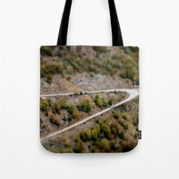 road Tote Bags featuring Road by PhotoStories
