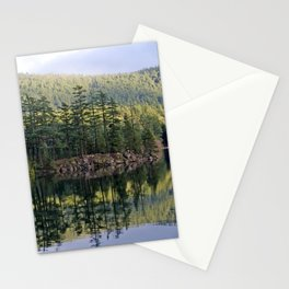 SUNNY BREAKS OVER MOUNTAIN LAKE ORCAS ISLAND Stationery Cards