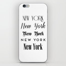 New York City Quote Sign, Digital Download, Calligraphy Text Art, World City Typography Print iPhone Skin