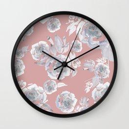 Sugar Roses Wall Clock