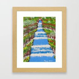 Tropical Rain Forest Water Fall Framed Art Print