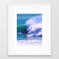 surfer Framed Art Prints featuring Surfer by suzyoconnor