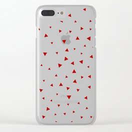 Red Triangle Pattern Clear iPhone Case