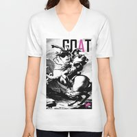 napoleon V-neck T-shirts featuring Napoleon by GOAT