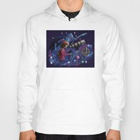 astronomy Hoodies featuring Muse of Astronomy by Jessica Chrysler