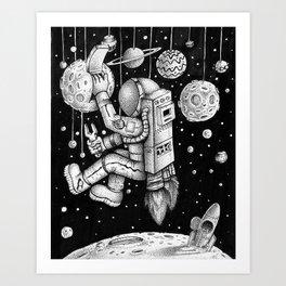 Galaxy Repairman Art Print