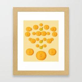 Orange and Banana Simple Design Framed Art Print