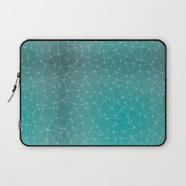 Triangulated Marrs Green Dotted Pattern Laptop Sleeve