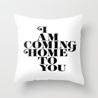 home sweet home Throw Pillows featuring Home by Maheva K